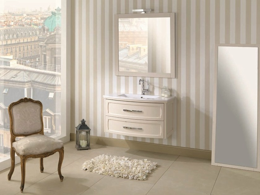 Single vanity unit with drawers NATURA 12 by Mobiltesino