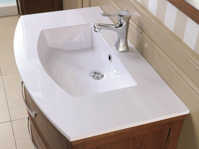 Wall-mounted vanity unit with drawers NATURA 03 | Vanity unit by Mobiltesino