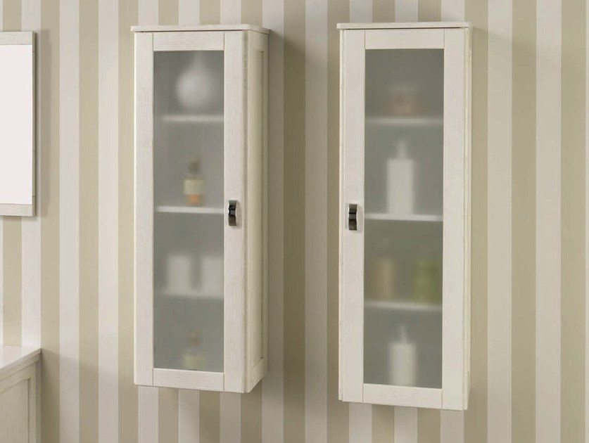 Wall cabinet with doors NATURA 03   Wall cabinet by Mobiltesino