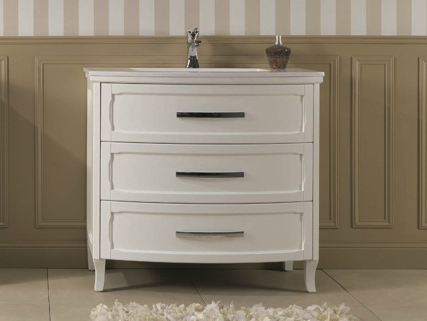 Floor-standing vanity unit with drawers NATURA 52 by Mobiltesino