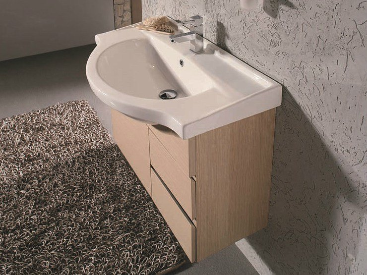 Vanity unit with doors with drawers VENTO 13 by Mobiltesino