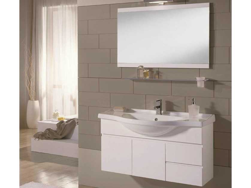 Single wall-mounted vanity unit VENTO 23 by Mobiltesino