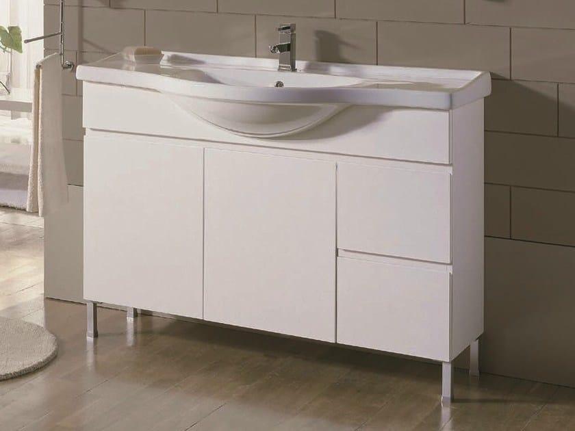 Floor-standing single vanity unit VENTO 60 by Mobiltesino