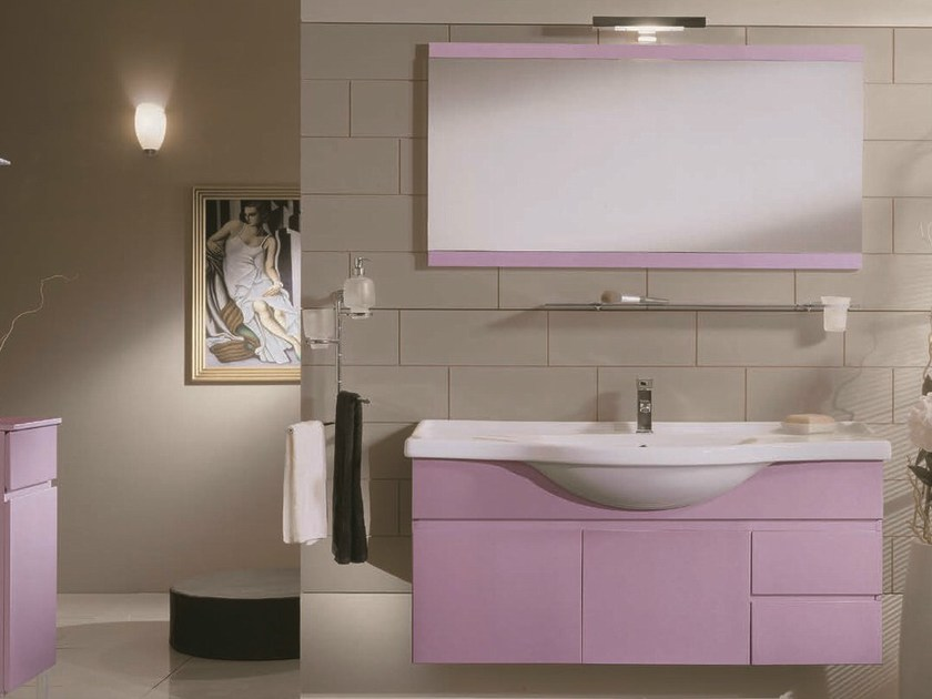 Single vanity unit with drawers VENTO 33 by Mobiltesino
