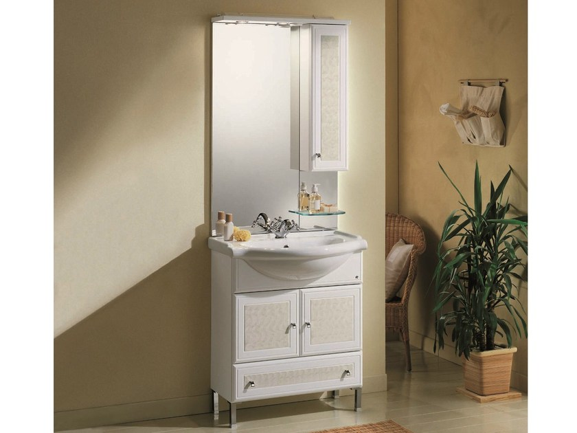 Vanity unit with doors with drawers MARA 02 by Mobiltesino