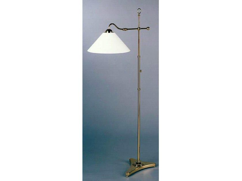 Bronze floor lamp 50870   Floor lamp by Tisserant