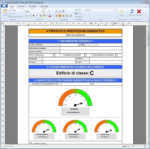 MASTERCLIMA Visualizzazione/Modifica APE