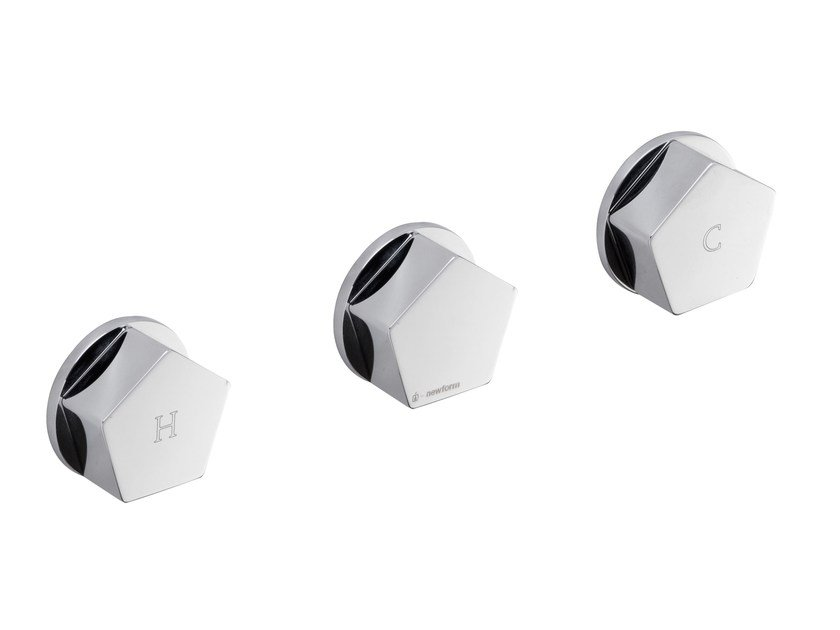 3 hole shower tap with diverter PARK | Shower tap with diverter by newform