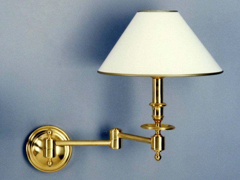 Bronze wall light with swing arm 52100 | Wall light by Tisserant