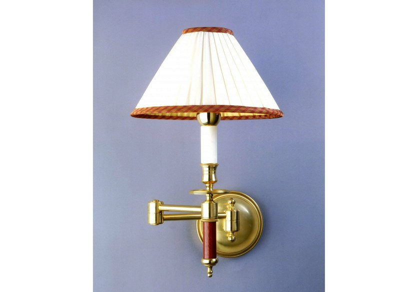 Bronze wall light with swing arm 52108 | Wall light by Tisserant