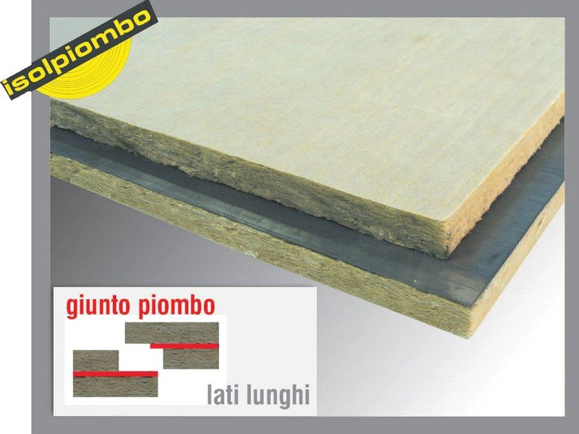 Sound insulation and sound absorbing felt with lead-laminate SUPERPIOMBOROCK by Thermak by MATCO