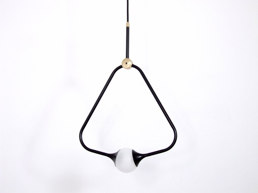 Direct light pendant lamp MEDAL BLACK by Intueri Light