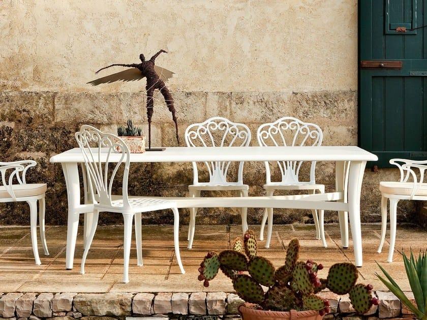 Rectangular aluminium garden table MEDITERRANEO   Table by FAST
