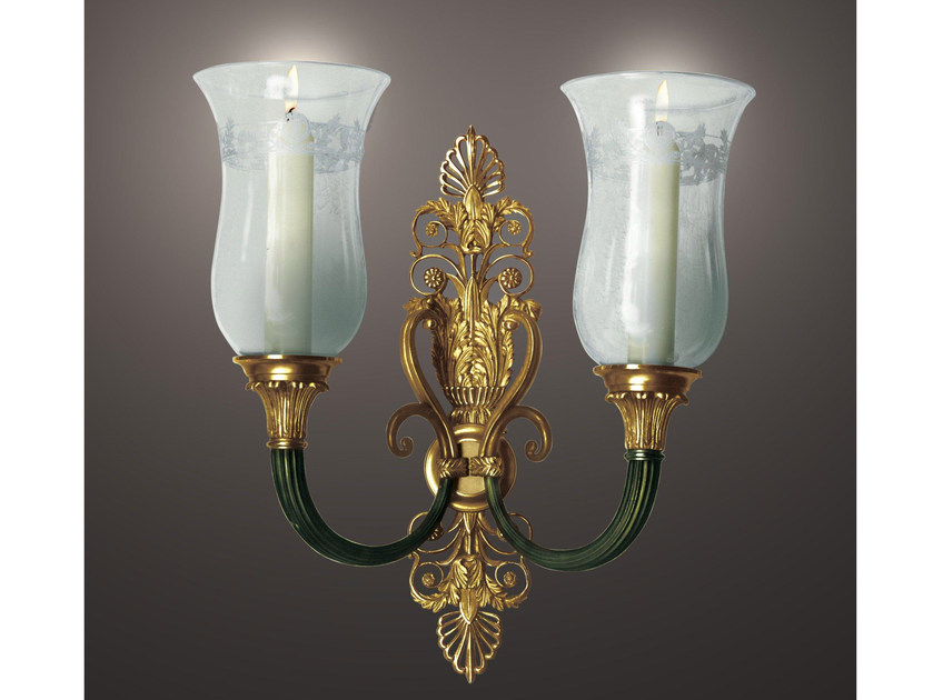 Wall-mounted bronze candlestick 24588 | Wall-mounted candlestick by Tisserant