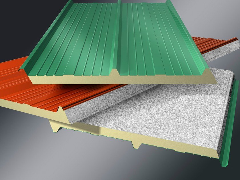 Insulated metal panel for roof MONOLAMIERA 3 by ISOTECNICA