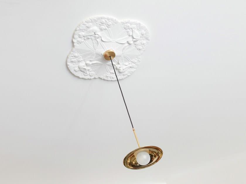 Halogen copper pendant lamp SS-1 WITH DISC | Copper pendant lamp by Intueri Light