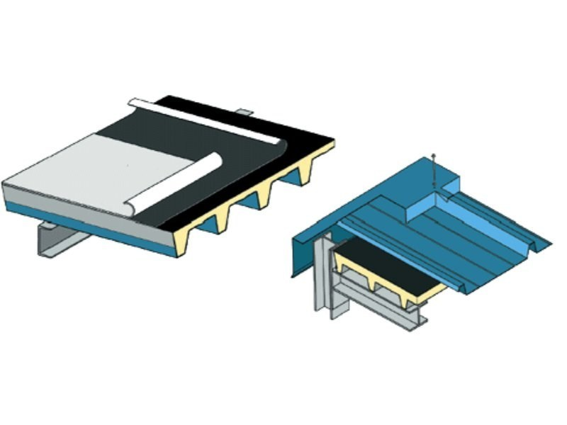Insulated metal panel for roof MONODECK 5 by ISOTECNICA