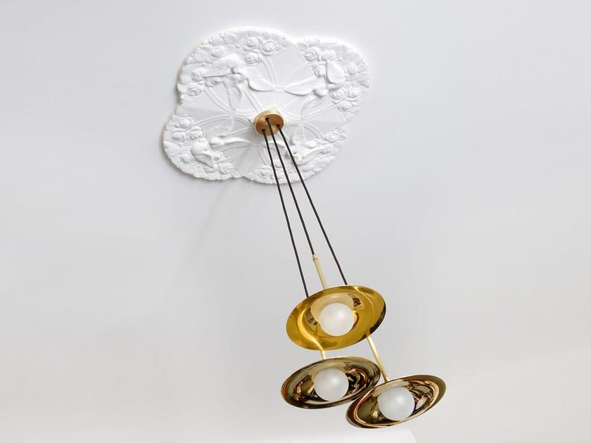 Direct light handmade brass pendant lamp SS-3 WITH DISC | Brass pendant lamp by Intueri Light