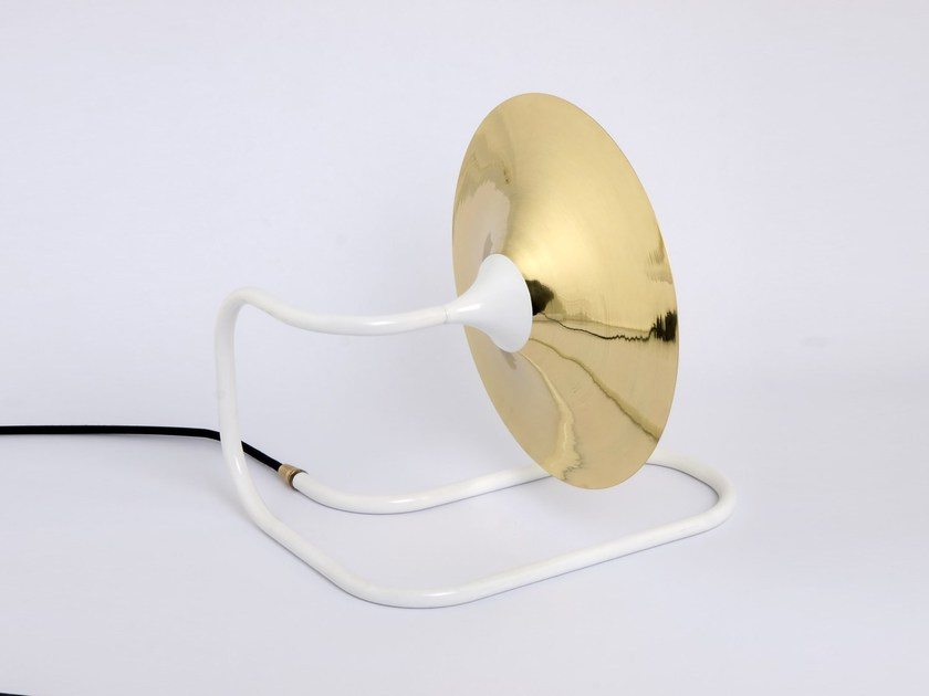 Direct light halogen table lamp TURBAYA WHITE by Intueri Light