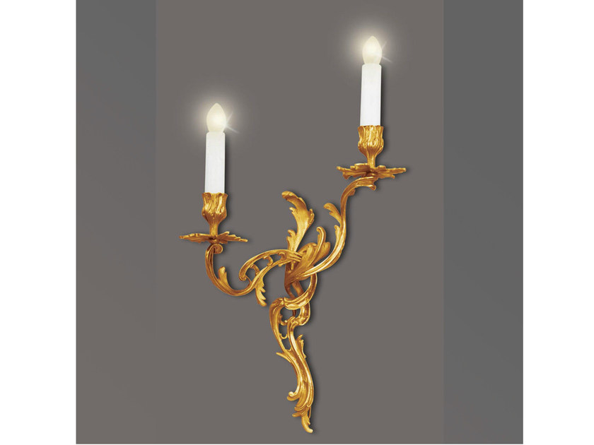 Bronze wall light 24734 | Wall light by Tisserant
