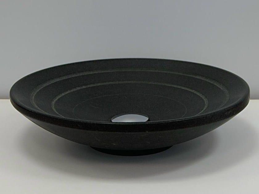 Countertop round natural stone washbasin GAMMA by RAMA 1956