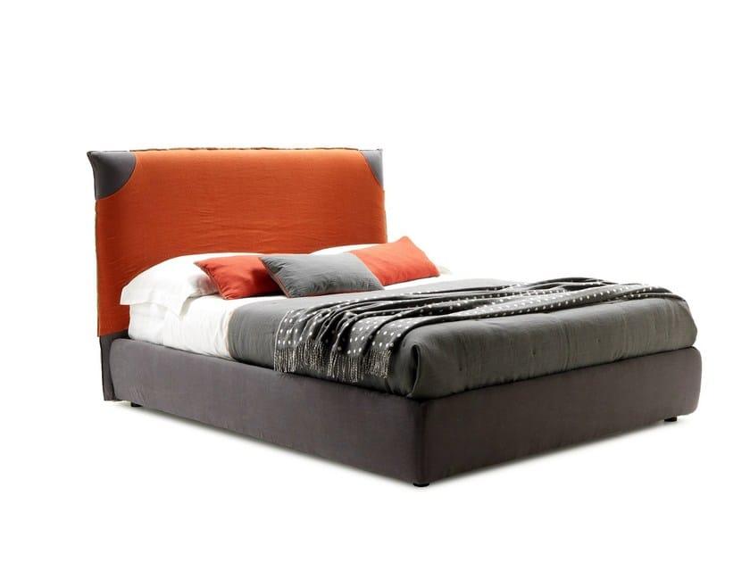 Fabric double bed with high headboard FAIR BIG - WELL by Bolzan Letti
