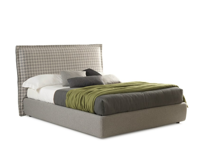 Fabric double bed with high headboard HANDSOME BIG by Bolzan Letti
