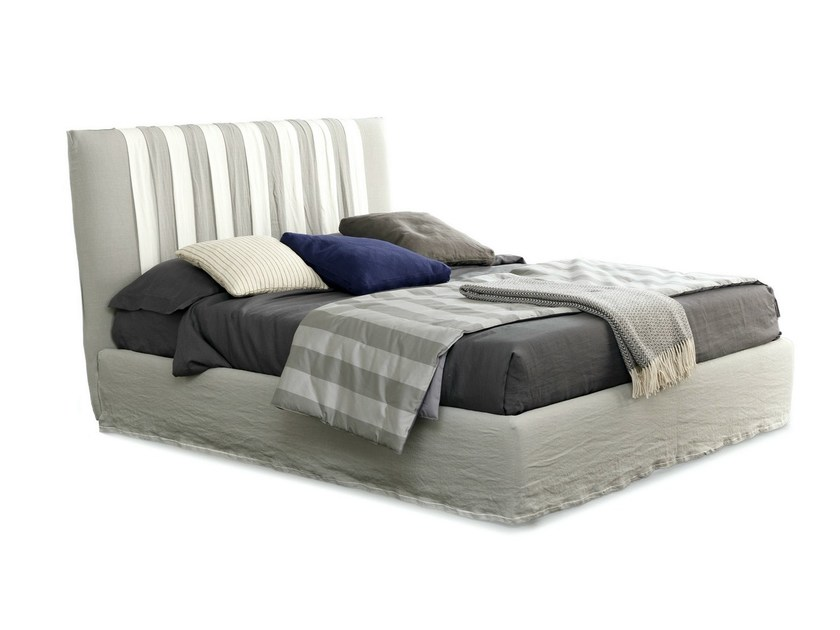 Fabric bed with high headboard LOVELY BIG CHIC by Bolzan Letti
