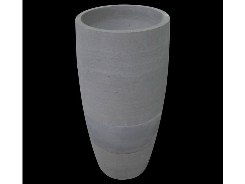 Freestanding natural stone washbasin EFFETTI by RAMA 1956