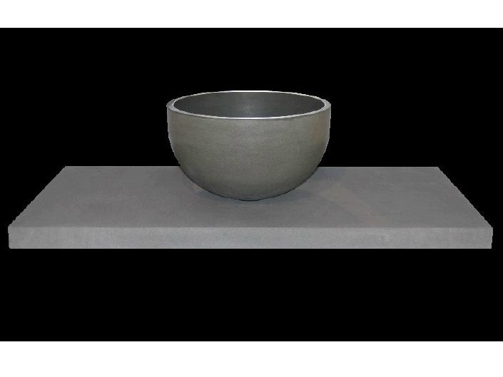 Countertop natural stone washbasin with integrated countertop PUNTI by RAMA 1956