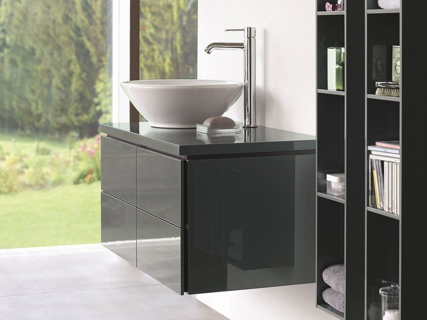Wall-mounted vanity unit with drawers L-CUBE   Wall-mounted vanity unit by Duravit
