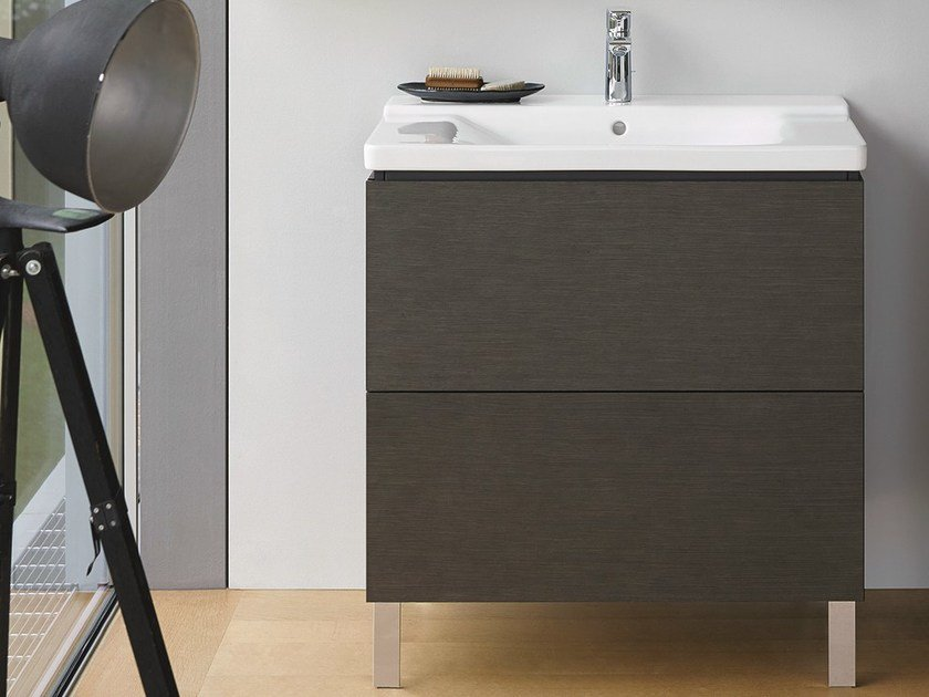 Single vanity unit with drawers L-CUBE | Vanity unit by Duravit