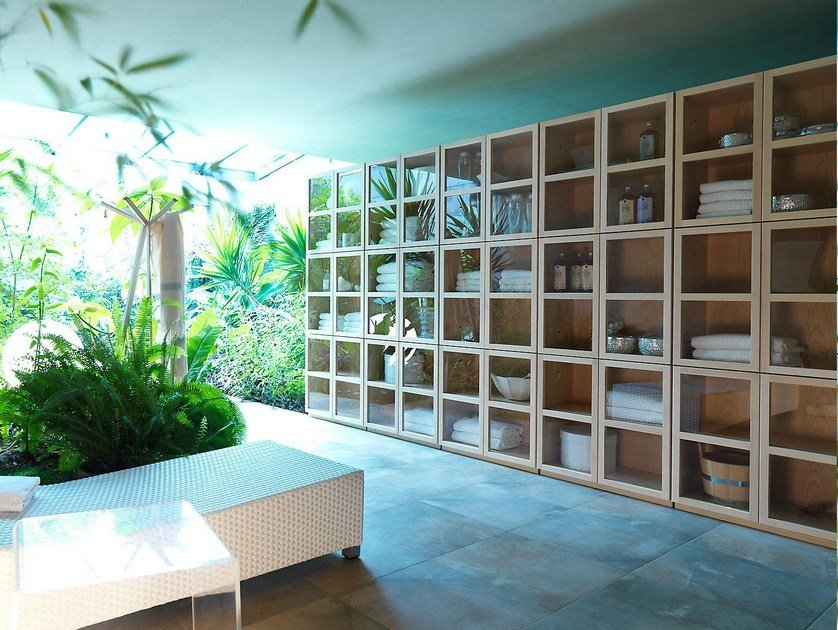 Sectional ash bookcase BOOK | Bookcase by IFT
