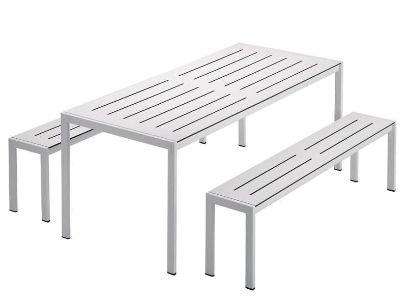 Steel garden table SANMARCO 2571 by Zanotta