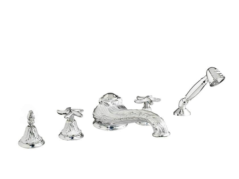 5 hole bathtub tap with individual rosettes 230716.B040.50 | Bathtub tap with individual rosettes by Bronces Mestre