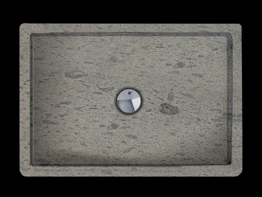 Rectangular natural stone shower tray RUBINO by RAMA 1956