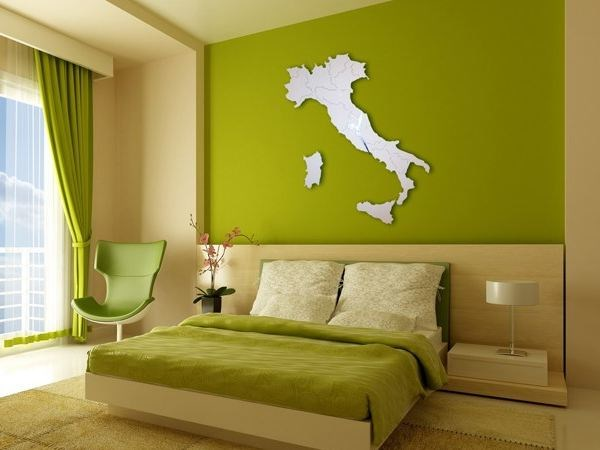Wall-mounted stainless steel clock ITALIA WHITE LACQUERED by Carluccio Design