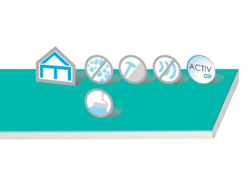 Gypsum plasterboard Habito Silence Activ'Air® by Saint-Gobain Gyproc