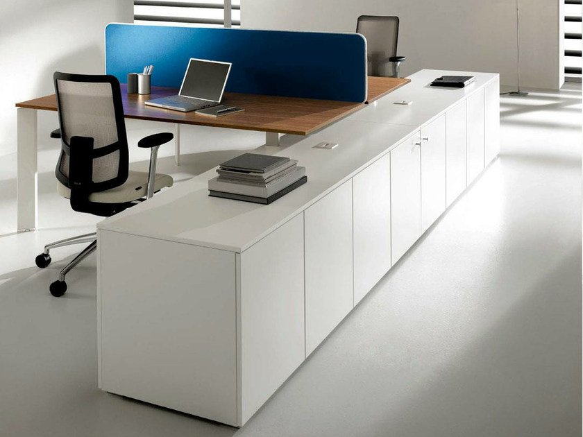 Low office storage unit with hinged doors COWORK | Office storage unit by IFT