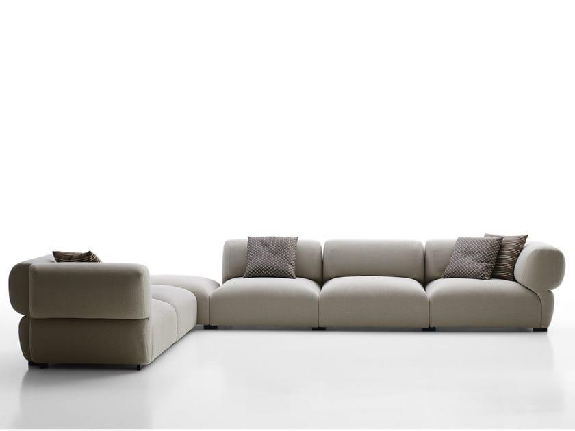 Corner sectional fabric sofa BUTTERFLY | Corner sofa by B&B Italia Outdoor