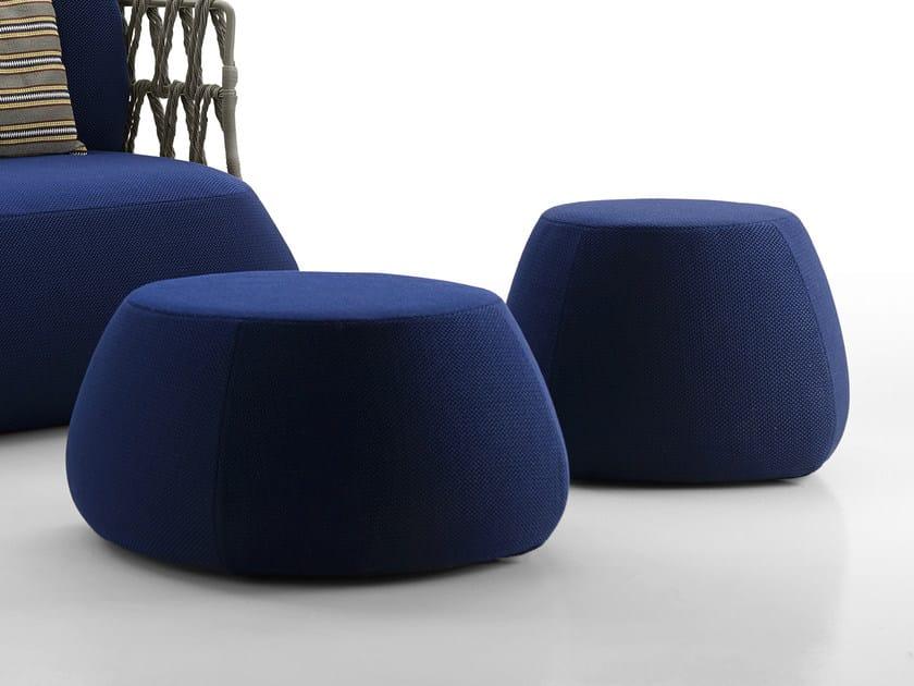 Round Fabric Garden Pouf Fat Sofa Outdoor By B Italia