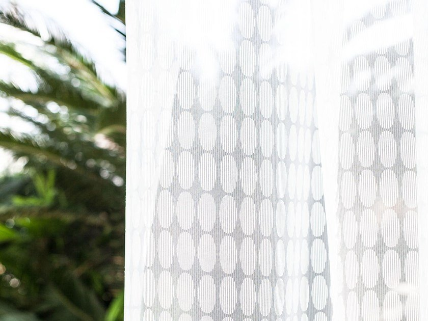 Fabric with graphic pattern for curtains NEREA by Equipo DRT
