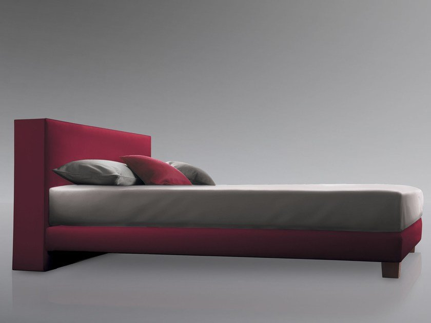 High upholstered headboard for double bed CUBE by Treca Interiors