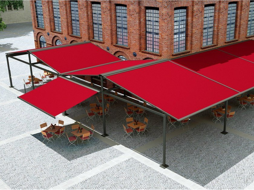 Freestanding box Folding arm awning MARKILUX RS-2 by markilux