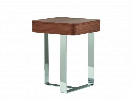 Square wooden bedside table with drawers SMART by Treca Interiors