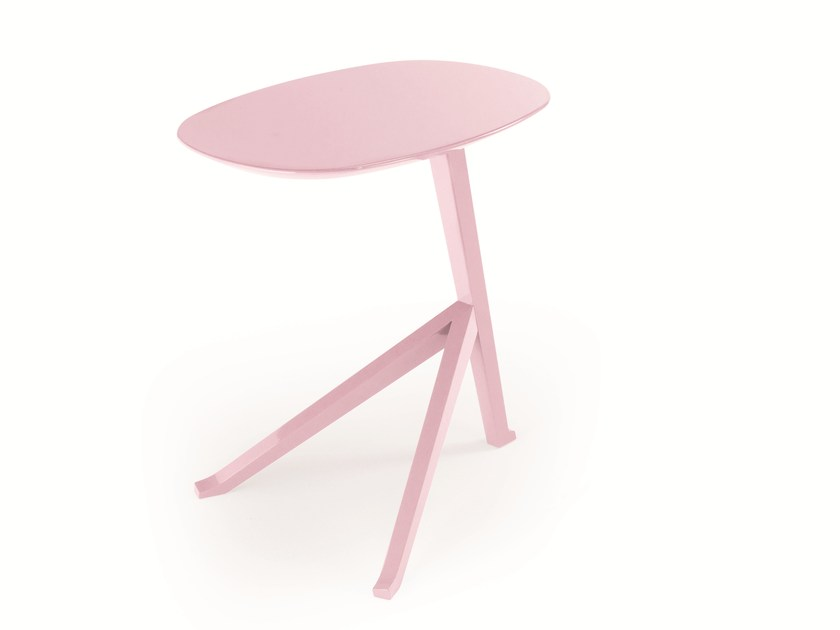 Oval wooden bedside table GALLINA by Treca Interiors