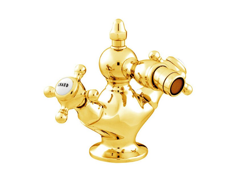 Gold bidet tap with polished finishing 035021.000.00 | Bidet tap by Bronces Mestre