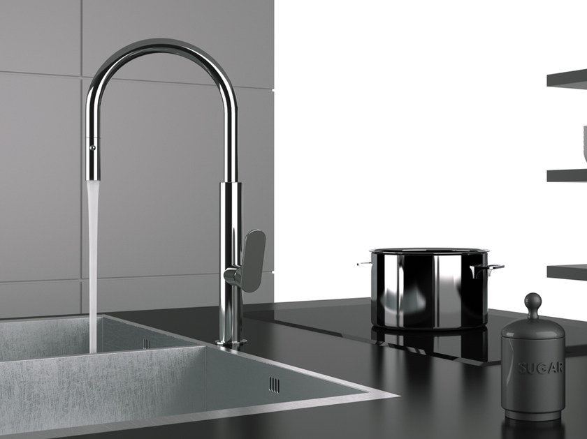 NKT 73 | Electronic kitchen mixer tap Touch-Me Collection By Remer ...