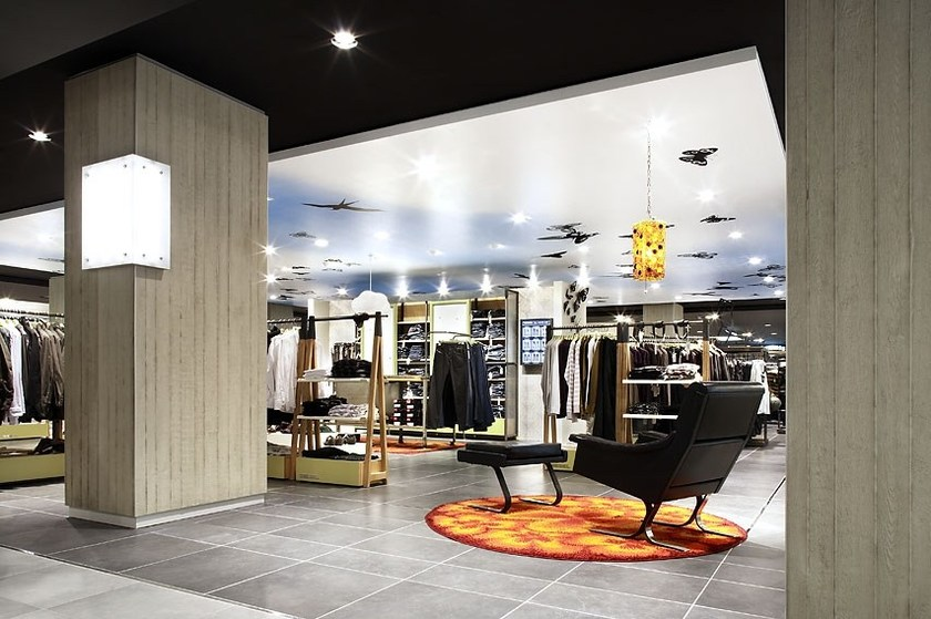 Indoor wall tiles with concrete effect IMI®-BETON by LEGNOPAN