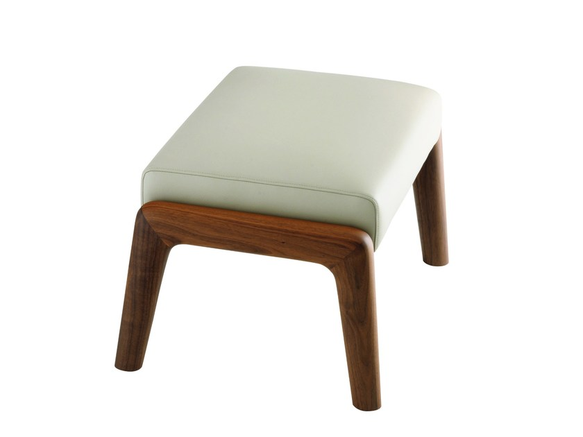 Wooden footstool AUGUSTE | Footstool by Treca Interiors